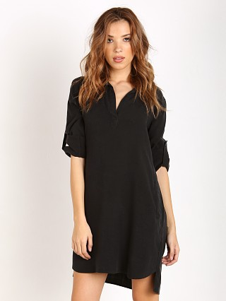 Bella Dahl Long Sleeve Shirt Dress Black