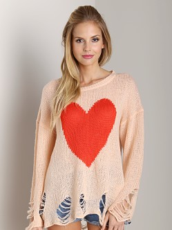 Wildfox Couture Lennon Big Heart Sweater Baby