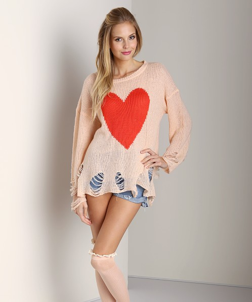 WILDFOX Lennon Big Heart Sweater Baby