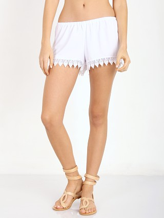 Show Me Your Mumu Bri Lacey Shorts White Crisp