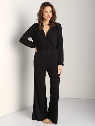 Model in black Nightcap BluRose Jumpsuit