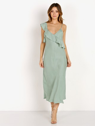 Suboo At First Sight Frill Slip Dress Sage