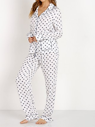 Splendid Long PJ Set Snowy Polka Dot