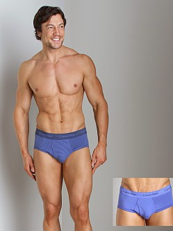 Calvin Klein Cotton Stretch 2 Pack Brief Nuvo & Columbia Blue