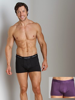 Calvin Klein Microfiber Stretch Trunk 2 Pack Black/Wicked