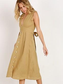 Faithfull Button Front Midi Dress - Plain oat Faithfull The Brand