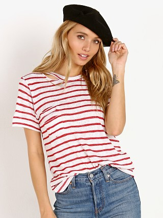 LNA Clothing Iles Tee Red Natural Stripe