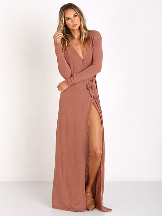 Somedays Lovin Diner Rib Maxi Wrap Dress Wheat