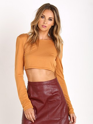 Somedays Lovin Blessed Tencel Crop Top Rust