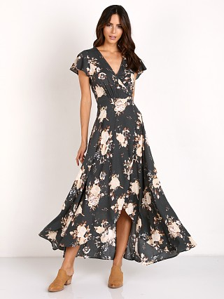 Auguste Valentine Muse Maxi Dress Vintage Blooms Charcoal