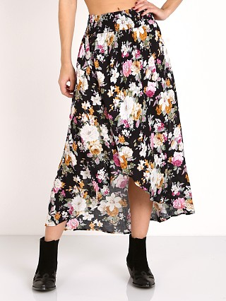 Auguste Dusk Shirred Waist Skirt Navy