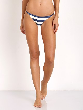 Solid & Striped Morgan Bikini Bottom Navy Cream & Stripe
