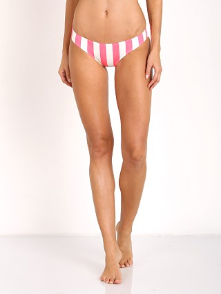 Solid & Striped Elle Bikini Bottom Pop Pink & Cream Stripe