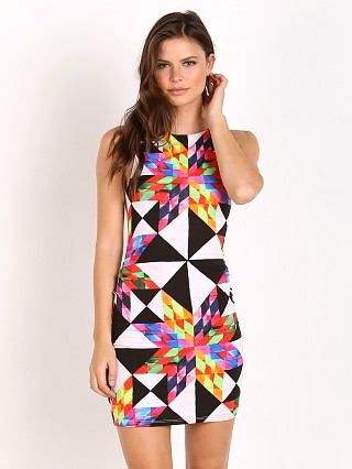 Mara Hoffman Fractals Color Block Dress Peach