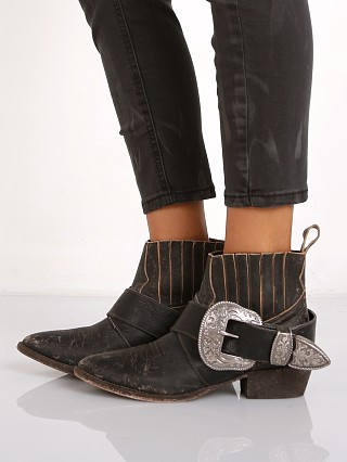 Matisse Understated Leather Bitchin Biker Boot Black