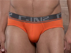C-IN2 Pop Colors Lo No Show Brief Flame Orange