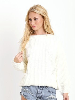 Line & Dot Horowitz Knit Sweater Off White