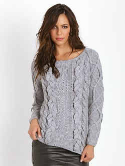 Line & Dot Hillary Chunky Knit Heather Grey