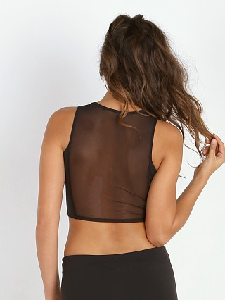 SOLOW Sheer Back Structured Top Black