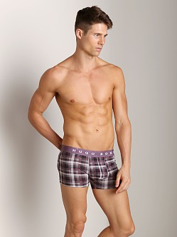 Hugo Boss Innovation 1 Plaid Trunk Burgundy