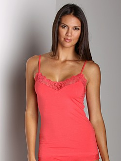 Only Hearts So Fine With Lace Cami Coral