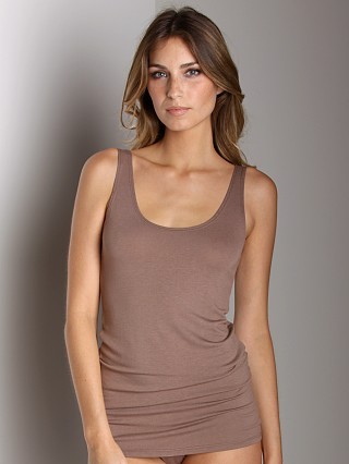 Only Hearts Feather Weight Tank Tunic Taupe