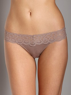 Only Hearts Feather Weight Thong Taupe