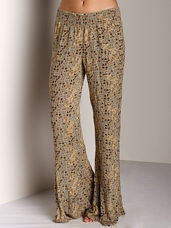 Free People Wide Leg Lounge Pant Latte Combo