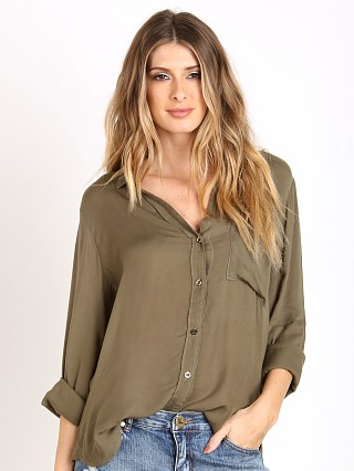 Bella Dahl Shirttail Button Down Burnt Olive