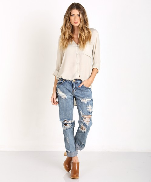 Bella Dahl Shirttail Button Down Clay White