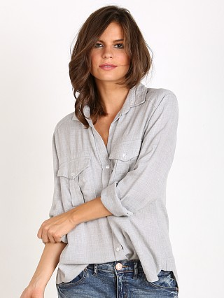 Bella Dahl Patch Pocket Button Down Heather