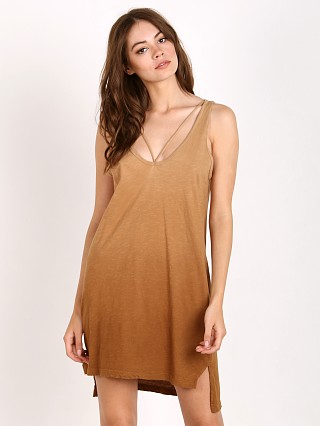 LNA Clothing Strappy Tank Dress Ombre Khaki