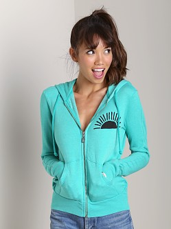 Day By Day Zip Up Hoodie Green