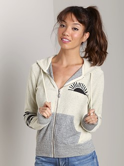 Day By Day Zip Up Hoodie Vanilla