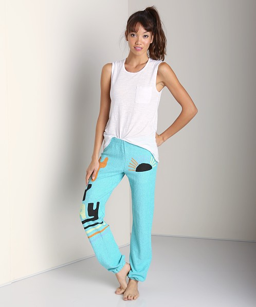 Day By Day Elastic Pant Turquoise