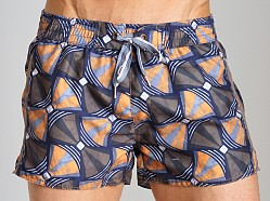Diesel Bantu Coralrif Limited Edition Swim Shorts Orange
