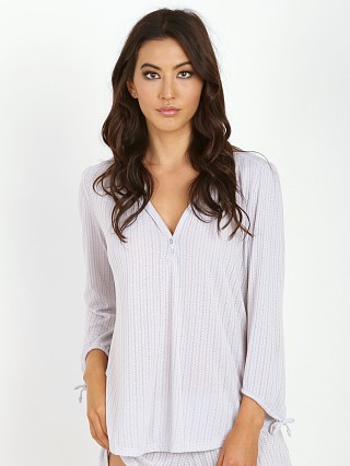 Eberjey Baxter Peasant Top Oyster Grey