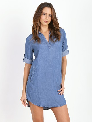 Splendid Collared Dress Medium Wash