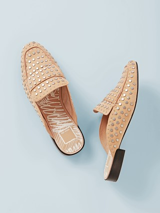 Dolce Vita Maura Studded Leather Slide Blush