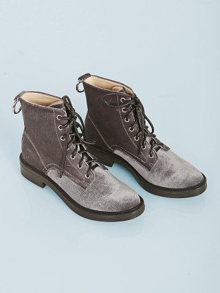You may also like: Dolce Vita Bardot Velvet Combat Boot Charcoal