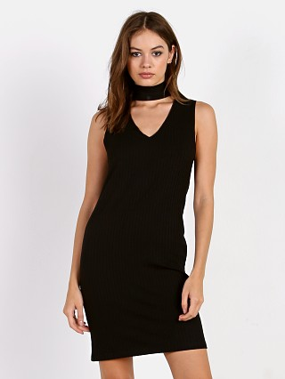 LNA Clothing Turtleneck Dress Black