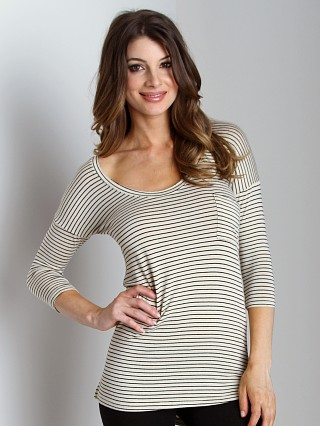 Free People Retro Striped Tee Natural Combo