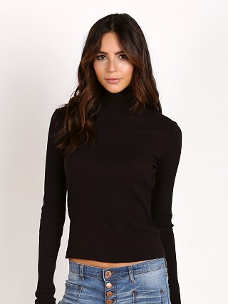 LACAUSA Basic Turtleneck Tar