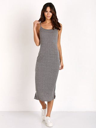 LACAUSA Heather Rib Midi Heather Grey