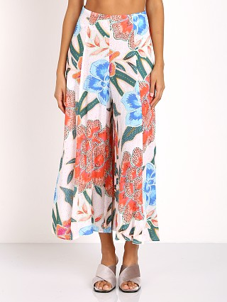 Mara Hoffman Arcadia Easy Culottes White Pink