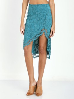 For Love & Lemons Maui Waui Skirt Teal