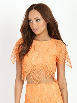 For Love & Lemons Luma Crop Top Tropical Orange