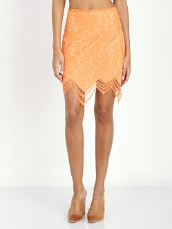 For Love & Lemons Guava Skirt Tropical Orange