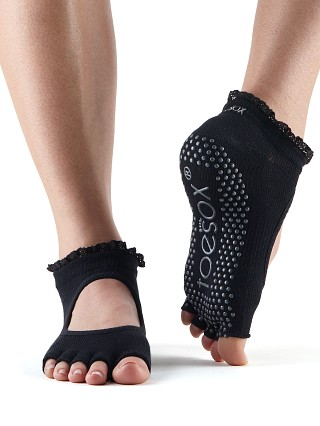 ToeSox Bella Lace Barre Sock Black