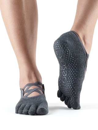 ToeSox Elle Sock Charcoal Grey